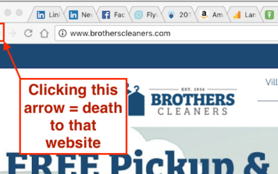 The browser back arrow of death